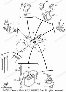 yamaha motorcycle 1999 oem parts diagram for electrical 1 partzilla com