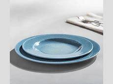 Reactive Glaze Melamine Dinnerware, Set of 4   Indigo