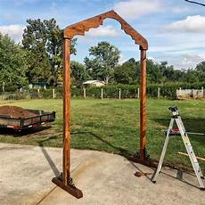 how to make a diy wedding alter arbor arch whatever dan 183 nix