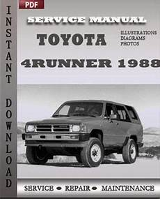 how to download repair manuals 2012 toyota 4runner electronic toll collection toyota 4runner 1988 service manual download repair service manual pdf