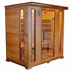 cabine de sauna piscinex sauna luxe sauna infrarouge luxe 4 places