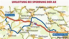 A8 Zwischen Karlsbad Und Pforzheim West An Wochenenden
