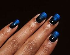 blue black gradient nail art gallery