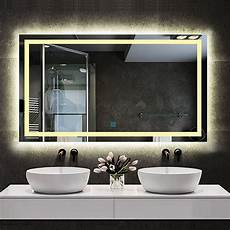 spiegel mit led led spiegel badezimmer wandspiegel mit touch beschlagfrei