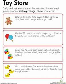 money change worksheets 2nd grade 2425 change at the store with images money math solving word problems simple word