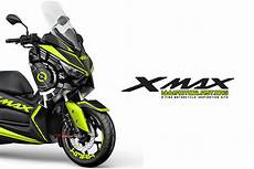 Modifikasi Xmax 250 by Modifikasi Striping Yamaha Xmax Silver Livery Sun