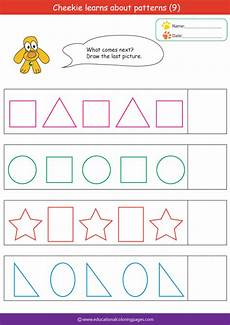 free printable patterns worksheets for kindergarten 317 patterns coloring pages