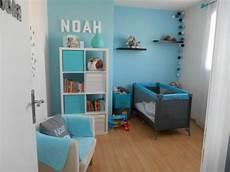 chambre garcon bleu turquoise