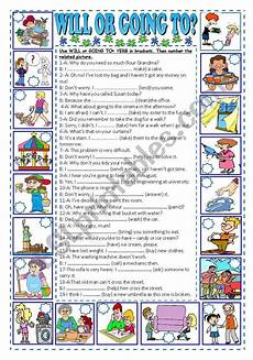 verb exercises for beginners 19150 a worksheet for the students to practice future tense will or going to they fill in the