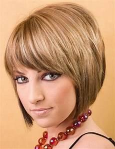 short layered bobs with bangs