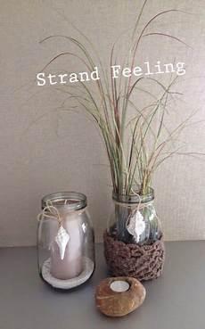 Gläser Dekorieren Mit Sand - sommer strand einfache deko ideen f 252 r glashalter