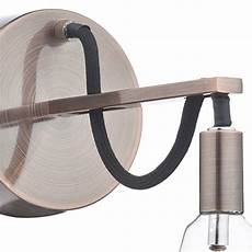 industrial cable wall light brushed copper lightbox
