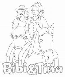 kleurplaten echte paarden ausmalbilder bibi und tina