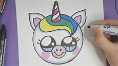 Leichte Bilder Zum Abmalen - kawaii baby einhorn emoji malen einfach und s 220 223
