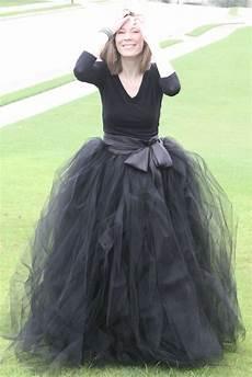 black adult tutu long black skirt sewn tutus wide by