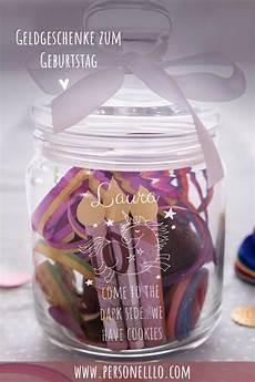 diy geldgeschenk geburtstag im glas mit einhornmotiv und