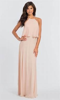 levkoff popover chiffon bridesmaid dress 7006
