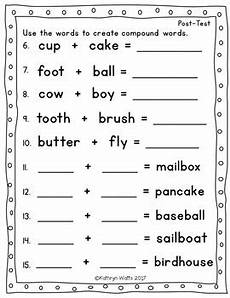 compound words assessment 1st grade by kathryn watts tpt