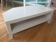 White Ikea Lack Corner Tv Unit And Coffee Table In