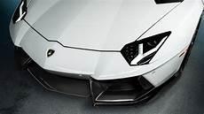 White Lamborghini Aventador Wallpaper 4k