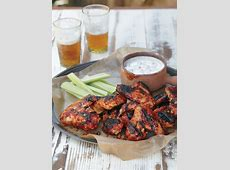 buffalo chicken wings with a blue cheese dip_image