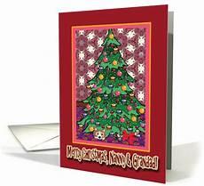 merry christmas nanny and grandad corgi a christmas tree card