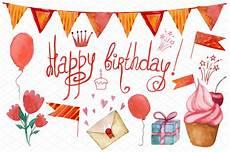 Bild Happy Birthday - happy birthday set graphic objects creative market