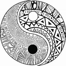 Malvorlagen Yin Yang Wu Best Karma Symbol Drawings Illustrations Royalty Free