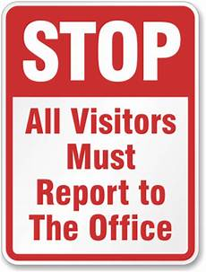 visitor signs puts a stop to unauthorized admittance