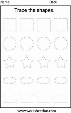 free worksheets on adjectives 18672 shape tracing 1 worksheet free printable worksheets worksheetfun