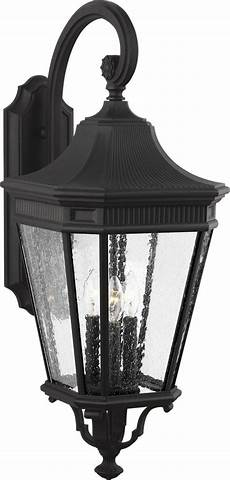 feiss ol5424bk cotswold traditional black outdoor 12 quot wall light fixture mf ol5424bk