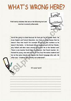 spelling error correction worksheets 22343 what 180 s wrong here error correction esl worksheet by xana f