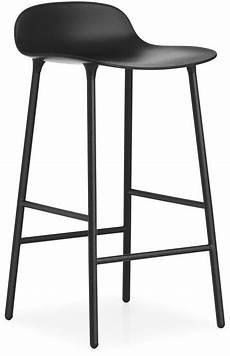 tabouret de bar form 65cm acier noir normann copenhagen