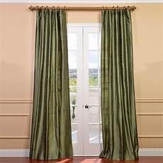 Silk Drapery Panels by Green Silk Curtains Half Price Drapes