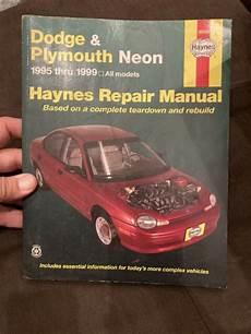 free car manuals to download 1999 dodge neon parental controls haynes auto repair manual 1995 thru 1999 dodge plymouth neon maintenance ebay