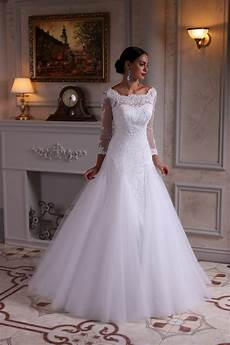 modest wedding gowns with 3 4 sleeves cecelle 2019 white lace tulle a line modest wedding