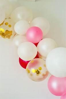 anleitung moderne luftballon girlande einfach selber