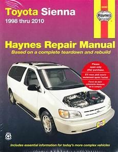 small engine service manuals 1998 toyota camry regenerative braking 1998 2010 toyota sienna haynes repair manual