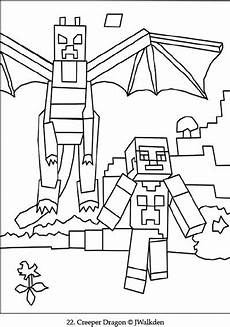 Ausmalbilder Minecraft Drachen Minecraft Ender A Free Minecraft Coloring Page