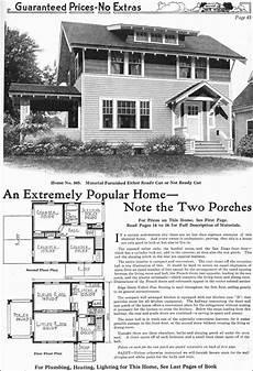 gordon van tine house plans model no 505 1918 gordon van tine two story side