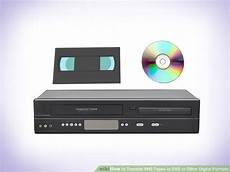 transfer vhs to dvd or other digital formats great