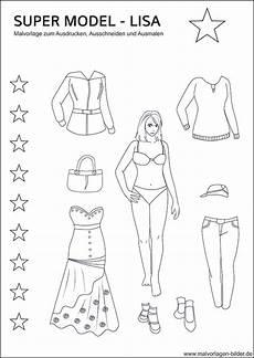 model ausmalbilder mit tollen kleidern
