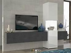 tv wand hängend media wand lowboard h 228 ngend und vitrine zwei lowboards