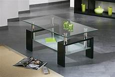 table basse verre et metal noir table salon carree
