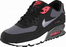 nike air max 90 youth gs shoes black grey neon