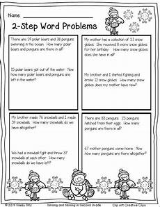 two step word problems worksheets 4th grade 11482 winter math printables word problems 2nd grade math math word problems