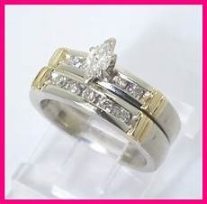 14k white yellow gold marquise diamond engagement wedding ring 40ct ebay