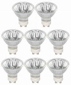halogen gu10 pack of 8 x halogen gu10 50w bulbs 340 lumens dimmable