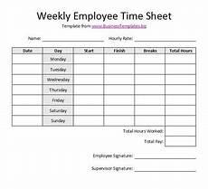 free printable timesheet templates free weekly employee time sheet template exle