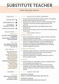 substitute teacher resume sles writing guide with images teaching resume exles